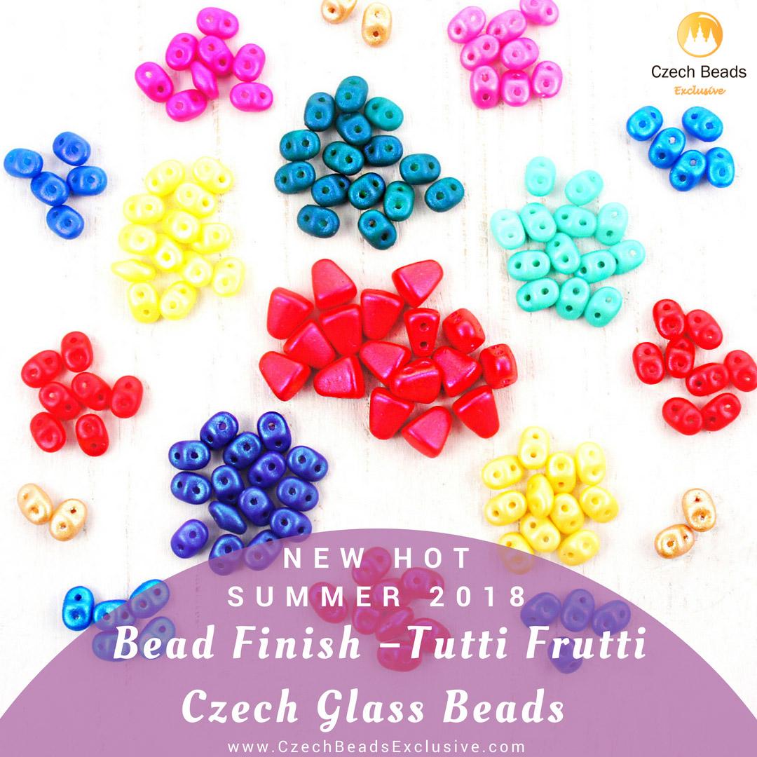 20g Tutti Frutti Pearl SUPERDUO Czech Glass Seed Beads 2 Two Hole Super Duo 2...