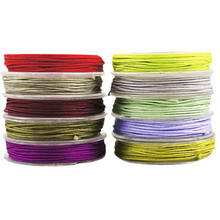 27.5m 30yrd Black Flat Nylon Cord Beading Embroidery Knotting String Shamballa Kumihimo Macrame Mala Thread 1mm