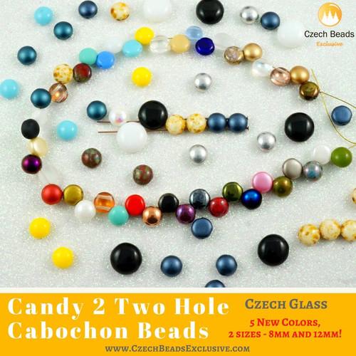 10 pastel lentille tchèque perles de verre 13mm